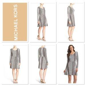 MICHAEL KORS Kobe Jersey Dress, Choco / White,